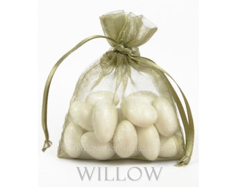 30 Willow Organza Bags, 3 x 4 Inch Sheer Fabric Favor Bags, For Wedding Favors or Jewelry Packaging