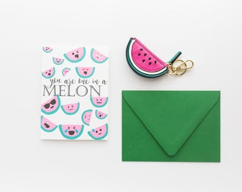 One in a Melon Thank You Card with Matching Envelope