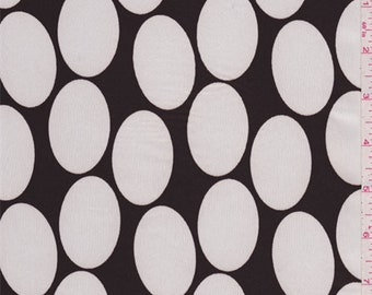 Espresso Brown Oval Charmeuse, Fabric By The Yard