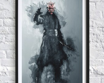 Star Wars - Darth Maul 'Watercolor' A4 Print 1