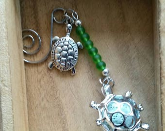 Green Sea Glass Turtle Fragrance Holder