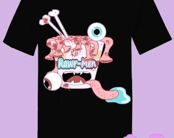 Creepy Cute Ramen Rawr-Men T-Shirt