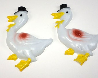 """Novelty Stork Cupcake or Cake Toppers, Set of 2, 3"""", Baby Shower, Baking Supplies"""