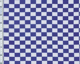 Royal Checkered Print Chiffon, Fabric By The Yard