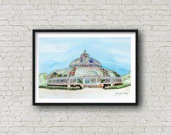 Palm House - Sefton Park - Liverpool - PRINT