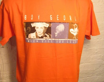 Size XL (46) ** Rare 1998 Boy George Concert Shirt (Double Sided)