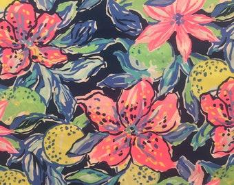 "multi capri soleil poplin cotton fabric square 18""x18"" ~ lilly summer 2018 ~  lilly pulitzer"