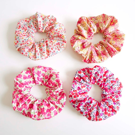 GIRLY SCRUNCH. Scrunchy or Scrunchie. Women and Girls Hair Accessories. Retro Style Accessory.