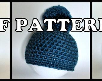 PDF PATTERN - Chunky Pom Pom Hat Three Ways
