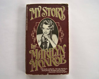 Vintage Book My Story by Marilyn Monroe, Celebrity Autobiography, Stein & Day Paperback 1986