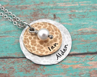 Personalized Hand Stamped Necklace Personalized Jewelry Hand Stamped Jewelry Custom Jewelry Personalized Necklace Handstamped Necklace