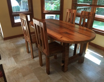 Oval Table, Reclaimed Wood