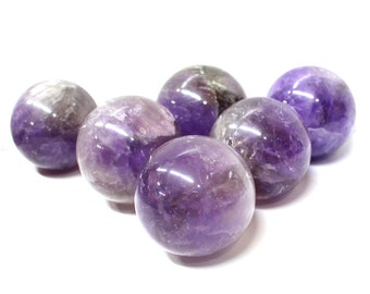 Amethyst Sphere-- Amethyst Ball - Stone Sphere - Round Amethyst Stone - Reiki - Metaphysical - Crafting - Crystal Grids -  RK64b12-02