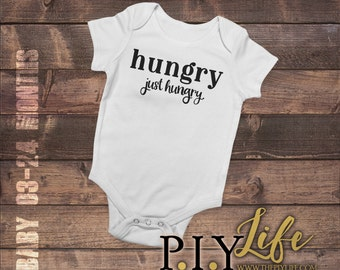 Kids   Hungry Just Hungry Kids Bodysuit DTG Printing on Demand