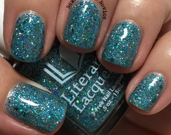 Tia Wanna - Aqua Blue Glitter Jelly Polish