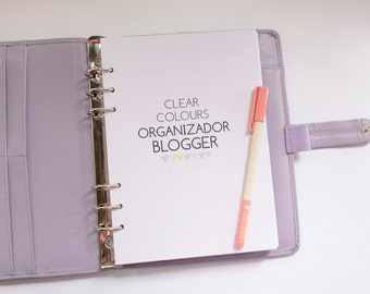 Organizador Blogger  Clear Colours