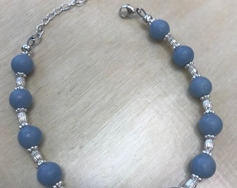 blue angelite stone bracelet