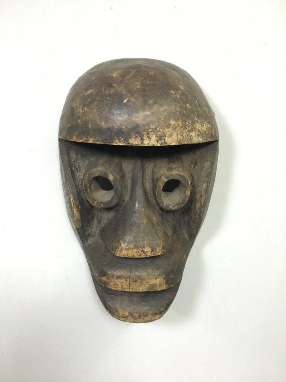 Mask Africa Dan Bugle Wood Mask Handmade Magic Warrior Performance Mask Wood Power Statement Unique