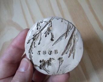 """Label """"Thyme"""" garden ceramic"""