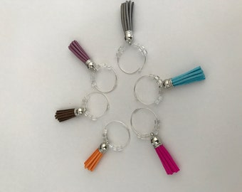 Tassel Wine Glass Charms, Tassel Drink Tags, Tassel Wine Glass Markers, Tassel Wine Hostess Gift, Wine Charm Party Favor, Wine Charm Favors