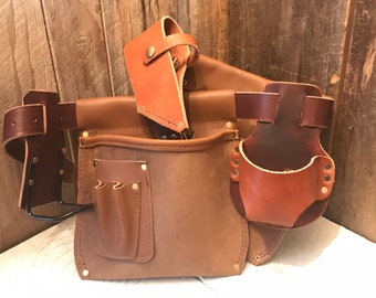 Leather Tool Belt - Free Shipping - Handmade - Amish / Made in the USA