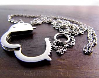 Steel Handcuff Necklace
