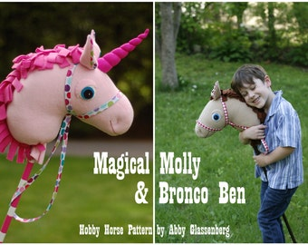 Magical Molly and Bronco Ben Hobby Horse PDF Sewing Pattern