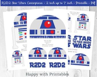 R2D2 Star Wars Centerpieces - R2D2 centerpieces - Star Wars centerpieces - Star Wars party - Star Wars The Last Jedi centerpieces
