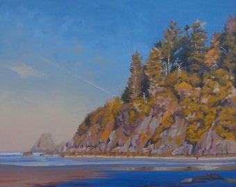 Original Oil Painting - Northern California - Moonstone Beach - Humboldt - Beach - Cliff - Redwoods - Seascape - Ocean - Sea - Landscape