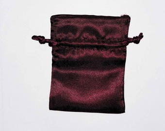 Clutch bag goodies in Satin Red 8 x 10-20 Cm