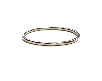 Hammered Ring, Gold or Silver Jewelry, Textured Stacking Ring, Minimalist Rings, Modern Jewelry