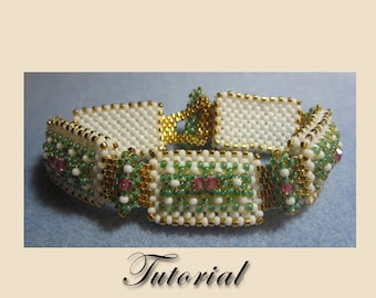PDF for Annabelle Bracelet Cubic Right Angle Weave beadwoven beading pattern tutorial - beadweaving beaded seed bead jewelry