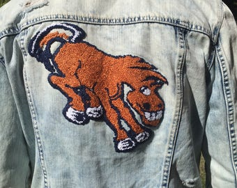 Denver Broncos Embroidered Denim Jacket
