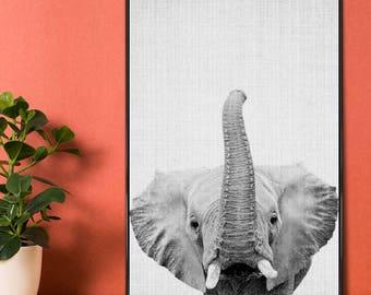 "Elephants Kids Poster - Black & White - ""Print 50"" at JUNIQE - Artist: Lila x Lola"
