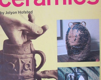 "Craft Booklet of "" Step By Step Ceramics""   How to booklet 1967 Golden Press used fair condition"