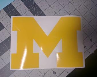 University of Michigan Wolverines 'M' Vinyl Decal