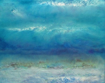 """Abstract Print ~ Beautiful Oceanscape ~ Limited Edition Print ~""""Infinity Beyond The Blue"""""""