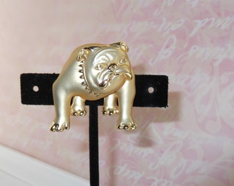 AJC Bulldog Brooch Pin Vintage