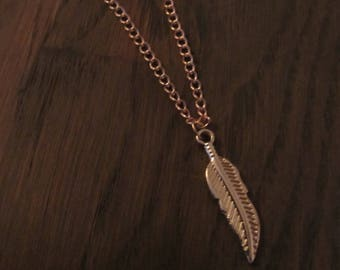 Necklace Feather Rosé Gold
