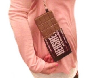 Chocolate bar purse chocolate handbags food purses realistic food fashion brown purse candy packaging coin purse pouch wristlet dessert