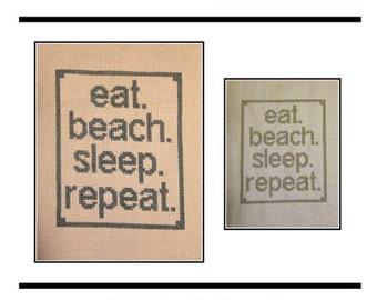 PDF E pattern emailed Beach Nautical Cross Stitch Pattern Sampler 153