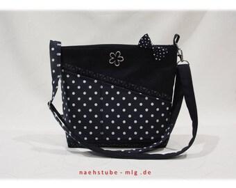 White shoulder bag blue,