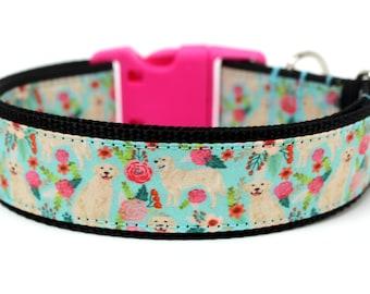 "Golden Retriever Dog Collar 1.5"" Large Dog Collar"