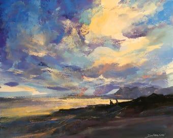 Original DEMONSTRATION Sky painting