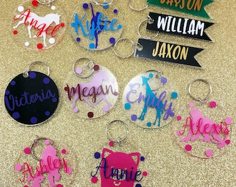 Custom Keychain - Name Keychain for Boy  or Girl - Bag Tag with Name - Kid's Gift - Name Tag Keychain - Acrylic Name Keychain