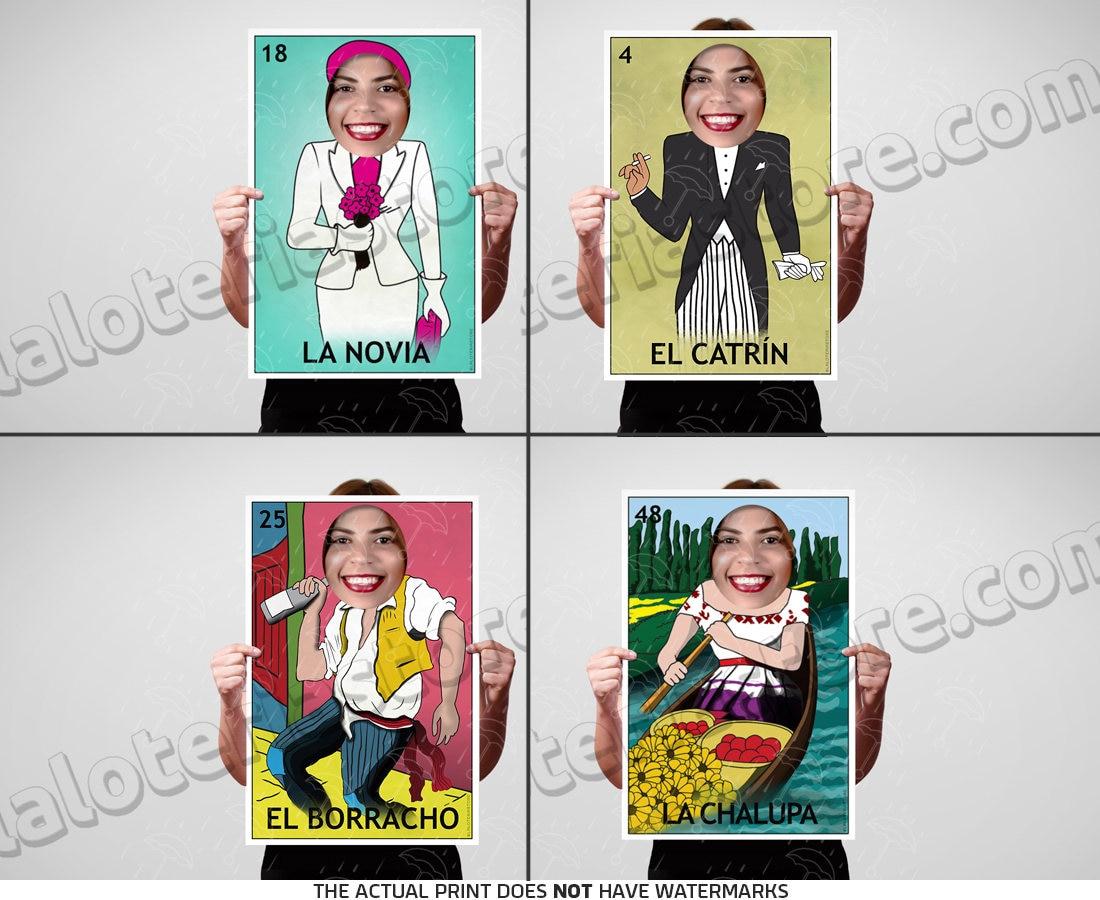 Set aus 4 Mini Loteria Requisiten Photo Booth Rahmen 18 x