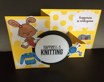 Handmade Card for a Special Knitter, knitter card, knitting card, thinking of you card, friend card, friendship card