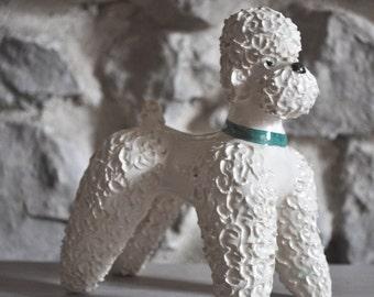 Vintage French Poodle Sculpture Dog Figurine 1950s