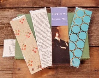 Little Women Book Page Bookmarks, Real Book Page Bookmarks, Louisa May Alcott, Book Nook, Book Excerpt, Book Gift, MarjorieMae