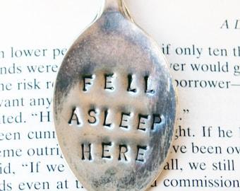 Vintage Silver Tea Spoon Book Mark / Page Clip